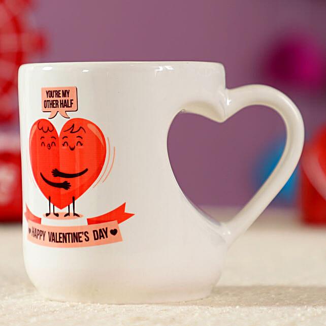 Heart Shaped White Ceramic Mug: Heart Shaped Gifts