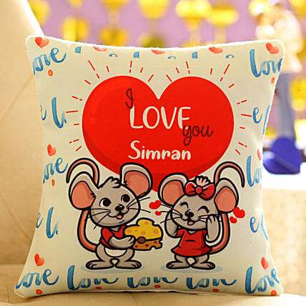 Animated Personalised Cushion: Personalised Cushions for Valentine