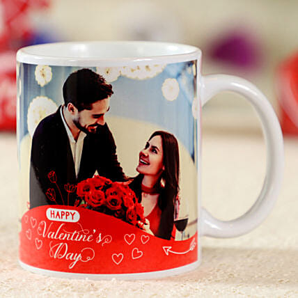 Appealing Personalised White Mug: Valentine Personalised Mugs