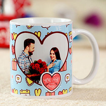 Struck By Love White Personalised Mug: