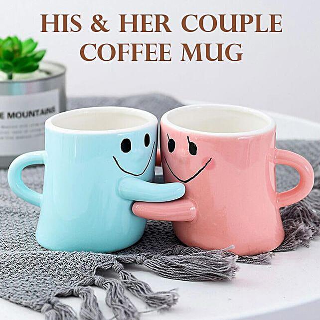 Pair of Hug Me Coffee Mugs: Unusual Gifts