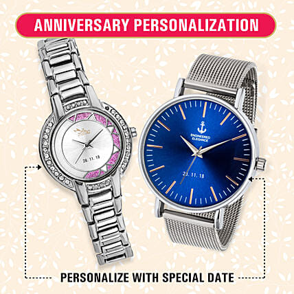 Personalised His & Her Watch Set: Personalised Watches