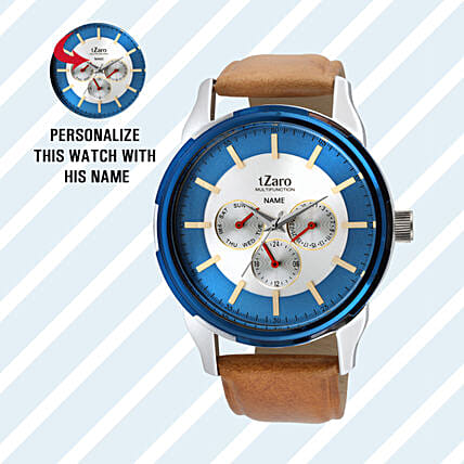 Personalised Stylish Brown Watch For Him: Personalised Watches