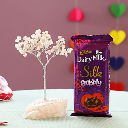 Beautiful Rose Quartz Wish Tree & Cadbury Bubbly: Christmas Combos