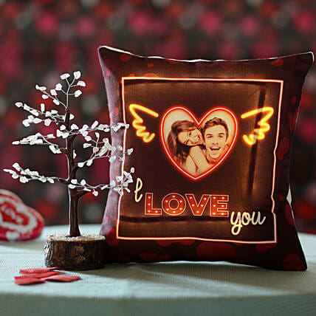 Rose Quartz Wish Tree & Love Personalised Cushion:
