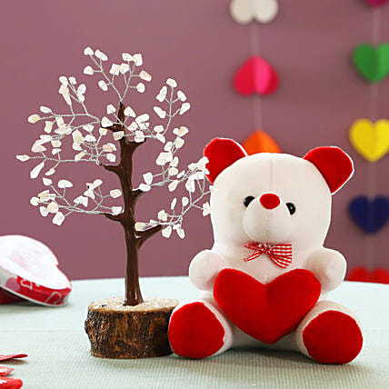 Rose Quartz Wish Tree & Teddy Bear: Christmas Combos