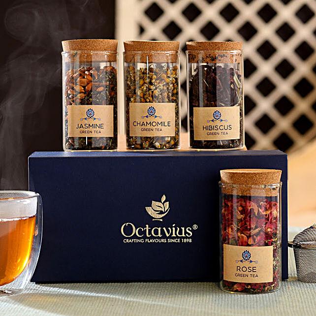 Floral Infusion Tea Hamper: Tea Gift Hampers