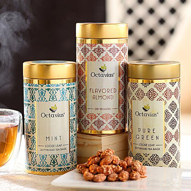 Almond Caramel Tea Hamper: Doctors Day Gift Hampers