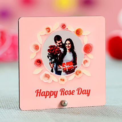 Rose Day Special Personalised Table Top: Rose Day Gifts