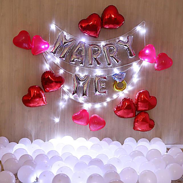 Marry Me Balloon Decor: Balloons Decorations