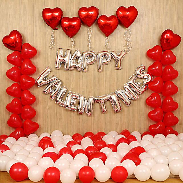 Grand V-Day Celebration Balloon Decor: Valentines Day Balloon Decorations