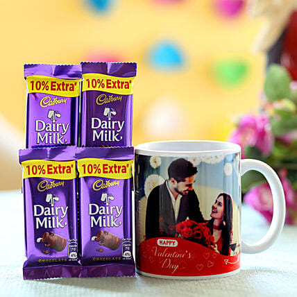 Personalised Mug & Chocolates For V-Day: Cadbury Chocolates