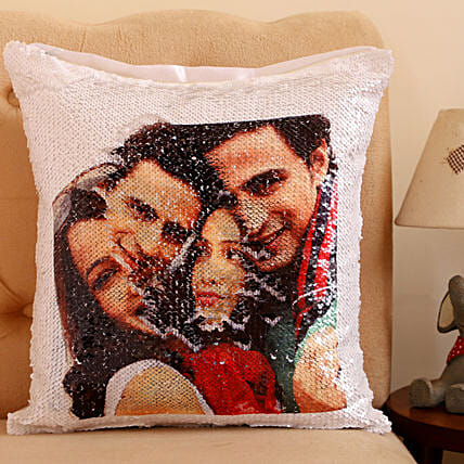 Personalised 2 Sided Magical Sequin Cushion: Personalised Cushions