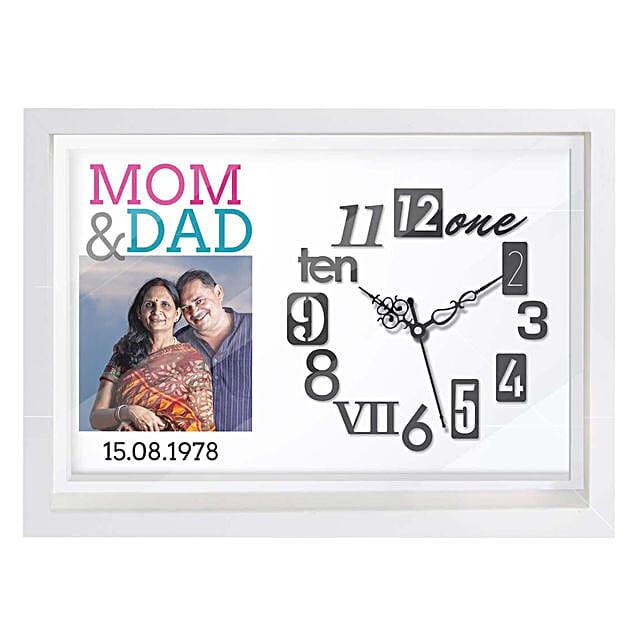 Personalised Mom & Dad Wall Clock: Personalised Clocks