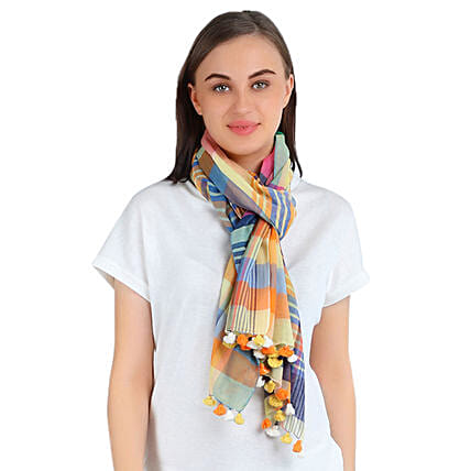 Stylish Personalised Cotton Scarf: Scarves And Stoles