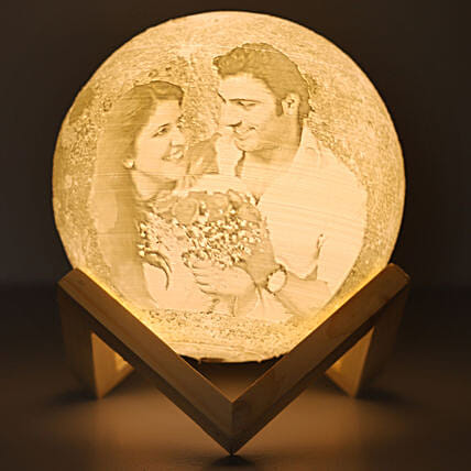 Personalised Couple Moonlight Lamp:
