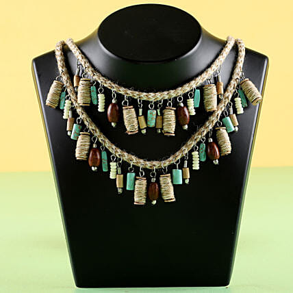 Two Layered Necklace: Chocolate Day Gifts