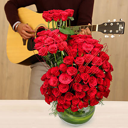 Sweet Guitar Tunes & Roses: Flowers & Guitarist Service