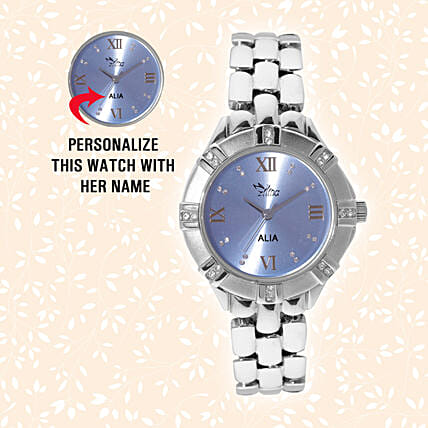 Personalised Steel Silver Stunning Watch: Personalised Watches
