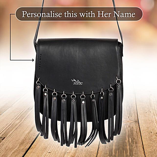 Voguish Black Sling Bag: Personalised Handbags and Wallets