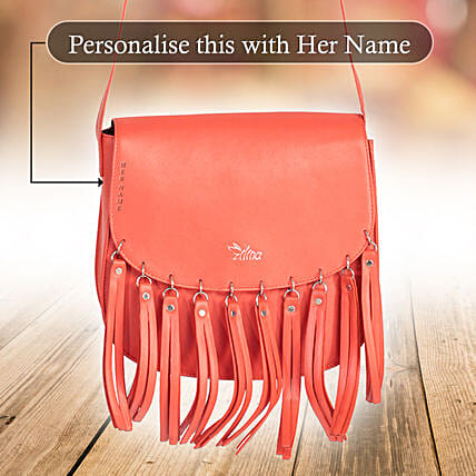 Voguish Red Sling Bag: Personalised Handbags and Wallets