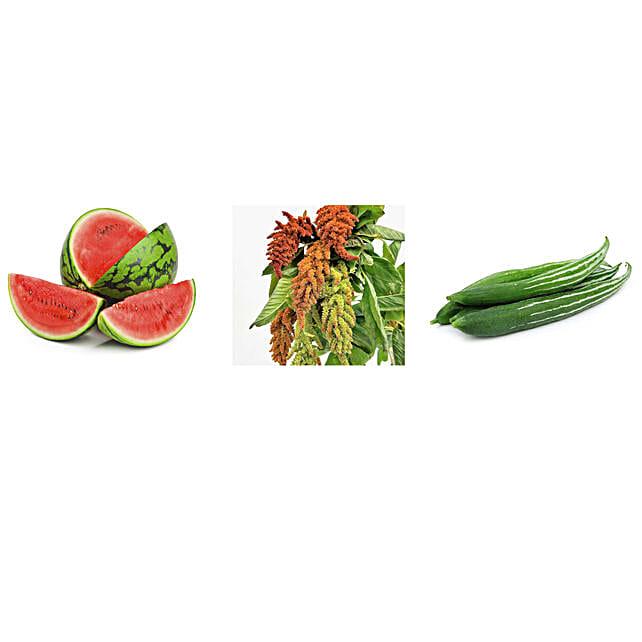 Watermelon Amaranthus & Snake Gourd Seeds Combo: Vegetable Plant-seeds