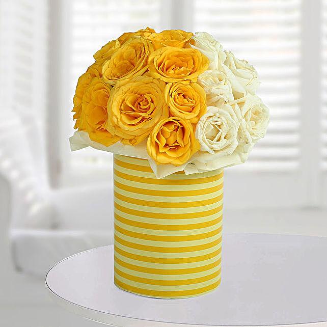 White N Bright Floral Arrangement: