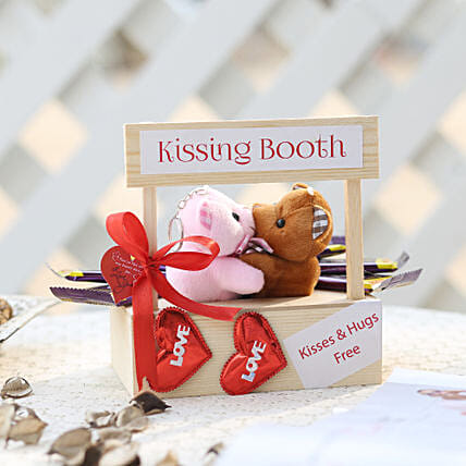 Wooden Kissing Booth & Dairy Milk Chocolates: Gifts for Teddy Day