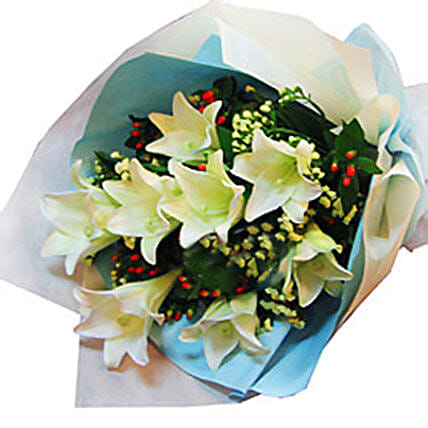 8 Madonna Lilies: Send Flower Bouquets to Malaysia