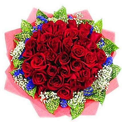 Fantastic Roses Bouquet: Newborn Baby Flowers to Malaysia