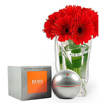 Hugo Boss With Flowers: Anniversary Gifts for Husband to Malaysia