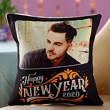 Personalised New Year Greetings Cushion For Him: New Year Gifts Delivery In Malaysia