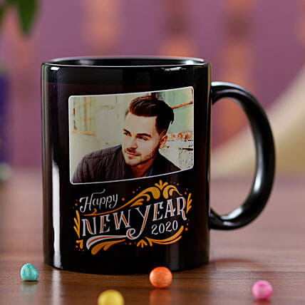 Personalised New Year Wishes Mug For Him: Send New Year Gifts to Malaysia