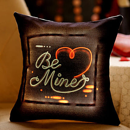 Be Mine Heart LED Cushion: