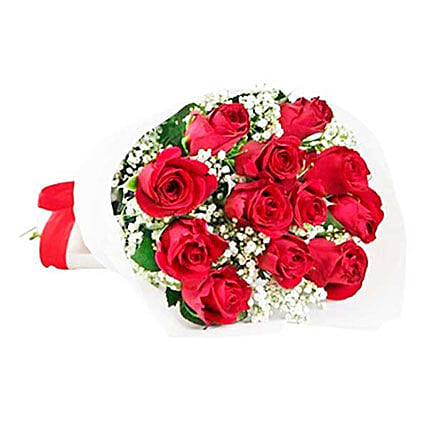 Classic Red Roses: Send Valentines Day Flowers to Mauritius