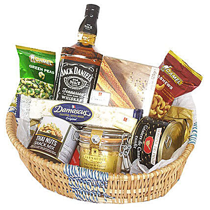 Jack Daniel Crunchy Basket: Send Corporate Gifts to Mauritius