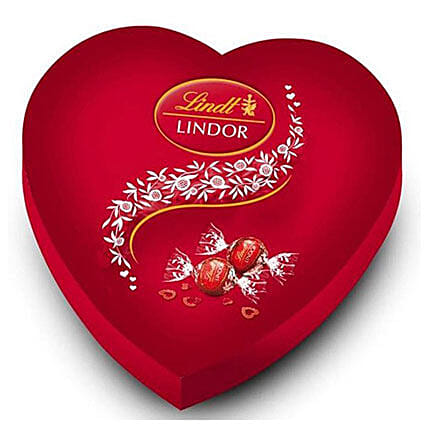 Lindt Lindor Red Heart Box Of Chocolates: Order Chocolates in Mauritius