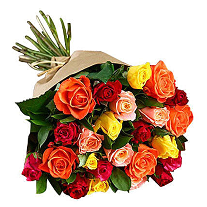 Bouquet Of Mixed Roses:
