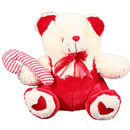 Christmas Bear And Candy Soft Toy: Send Soft Toys to Mexico