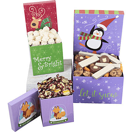 Christmas Sweet Boxes Set: Send Gifts to Mexico