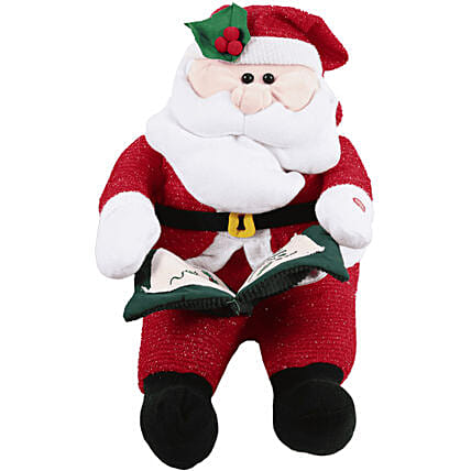 Cute Santa Soft Toy: Send Gifts to Mexico
