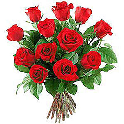 12 Long Stem Roses: Send Valentines Day Flowers to Nepal