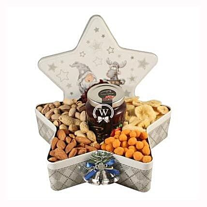 Christmas Star with Nuts: