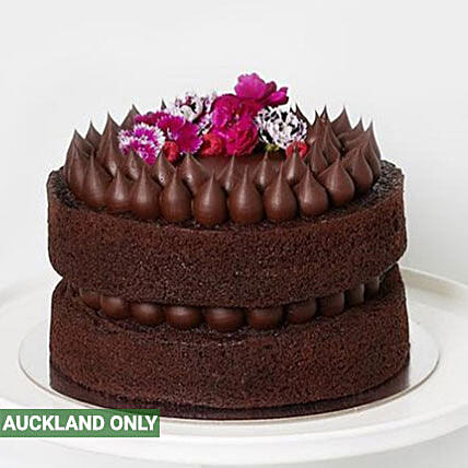 Sinfully Delicious Dark Chocolate Cake Send Cakes To New Zealand