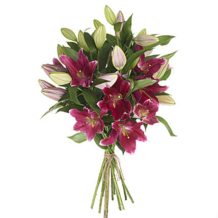 Gleaming Pink Lilies: Birthday Flower Delivery in New Zealand