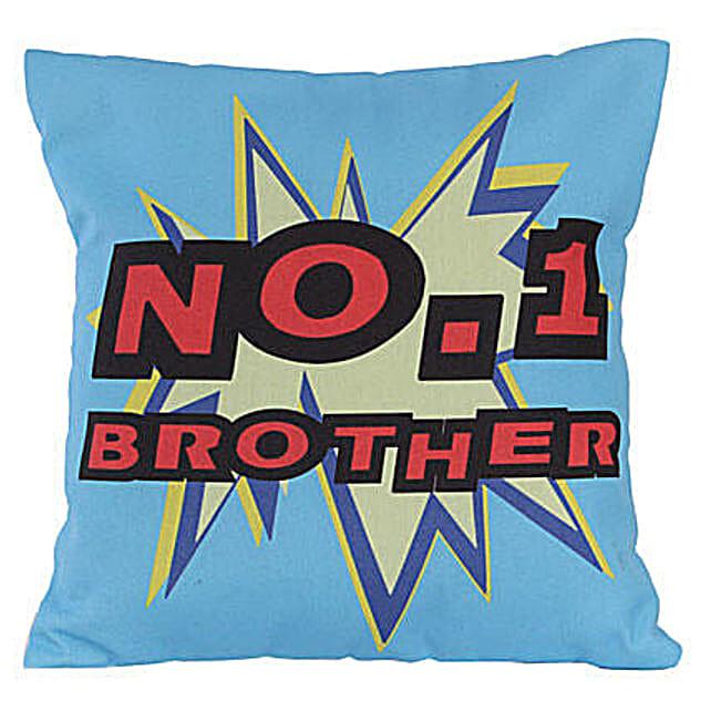 No 1 Brother Cushion: Send Bhai-Dooj Gifts to New Zealand