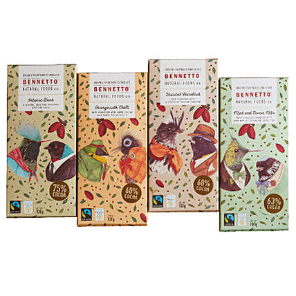 Bennetto Organic Chocolate Bars: Send Chocolate to New Zealand