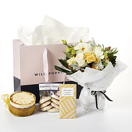 Flowers N Gourmet Treat Hamper: Send Corporate Gifts to New Zealand