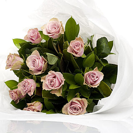 Bouquet Of Dusty Pink Roses: Send Roses to New Zealand