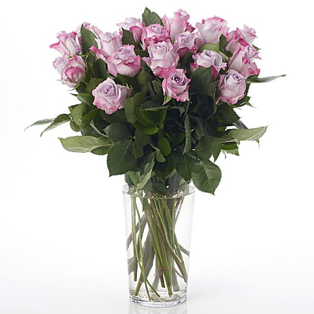 Lilac Kiss Roses Arrangement: Newborn Baby Flowers to New Zealand